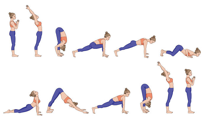 Saludo al sol. Yoga para la salud