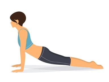 Bhujangasana (Postura de la cobra) - Para el dolor menstrual