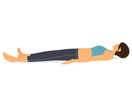 Savasana (Postura del cadáver) - Para el estrés