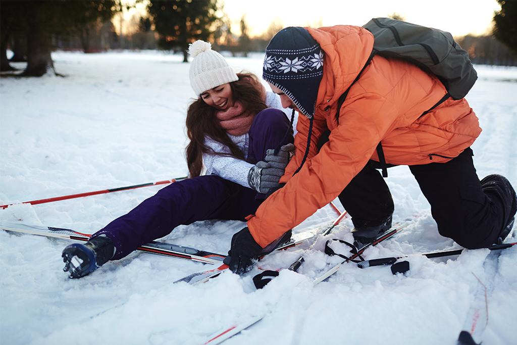 Protección necesaria para evitar lesiones en la nieve